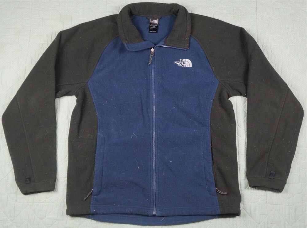 2341b38a2 Rare VTG THE NORTH FACE Spell Out Color Block Fleece Zip Jacket 90s Retro  TNF M | eBay