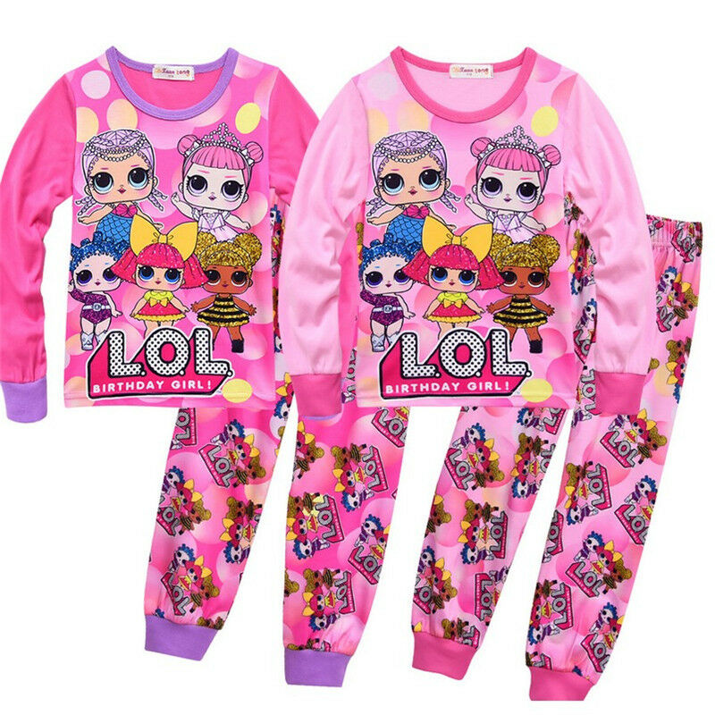 f1afbc01fdfa XMAS Kids LOL Surprise Doll Game Girls Tops + Pants Outfits ...