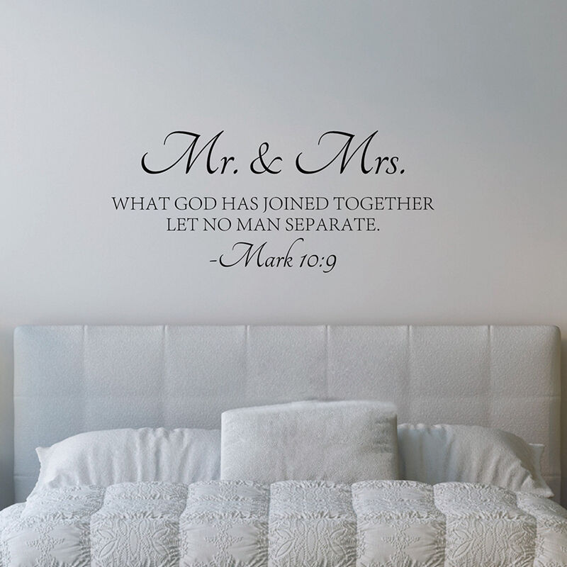 Mr Mrs Love Quotes Bible Verse Vinyl Wall Decal Sticker Scripture