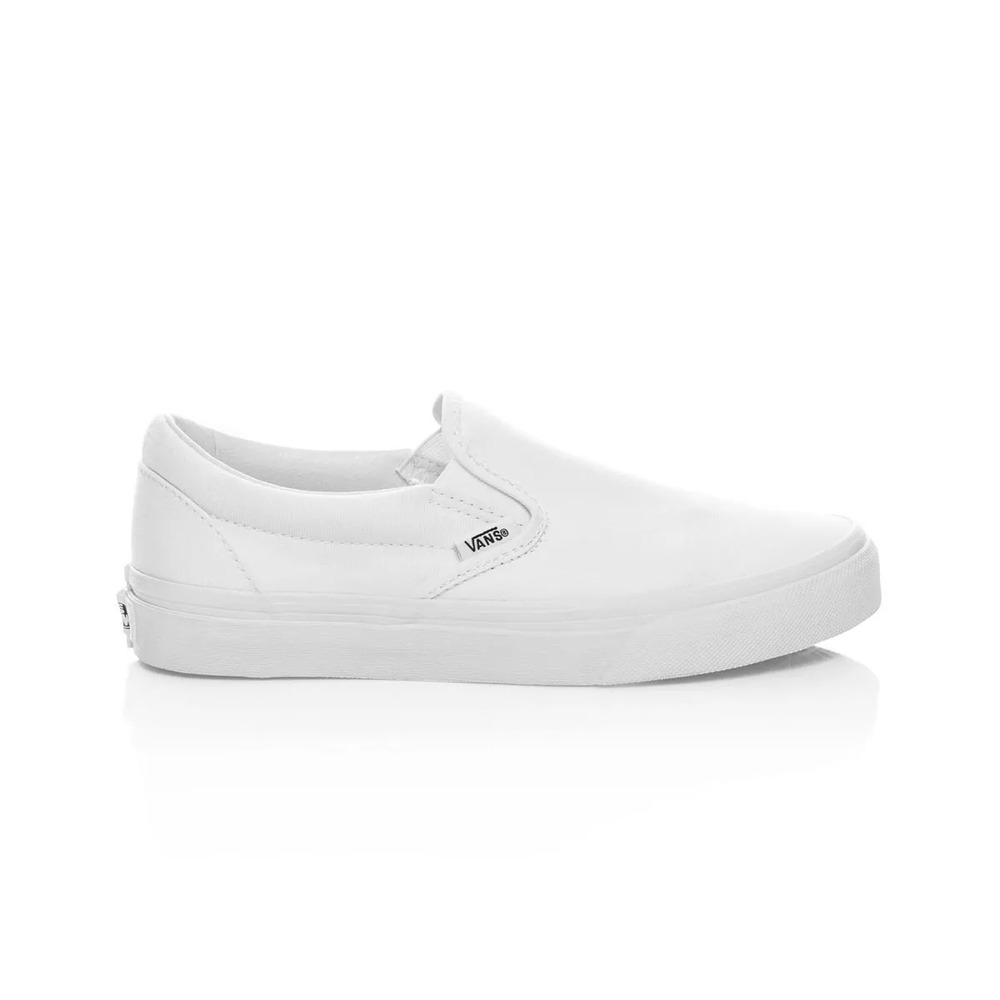 fb08979cee Details about Vans Classic Slip On Casual Shoes - Mens Womens Unisex - True  White