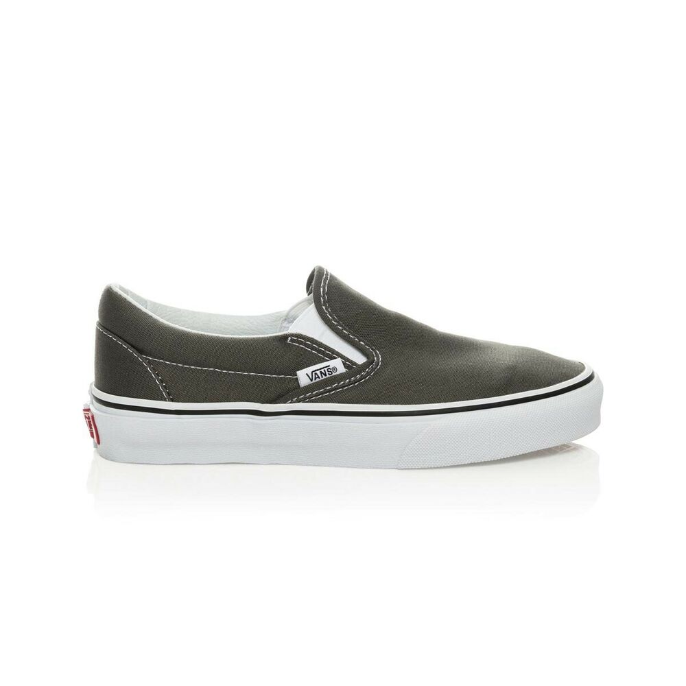 1f5fbf837552b7 Details about Vans Classic Slip On Casual Shoes - Mens Womens Unisex -  Charcoal