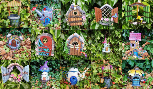 Exquisite Decorative Magic Hand Painted Metal Fairy Garden Ornaments Indoor/Out
