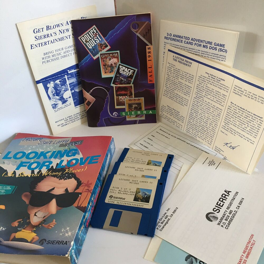 Leisure Suit Larry Looking For Love Sierra Ms Dos Ibm Pc 35 1988