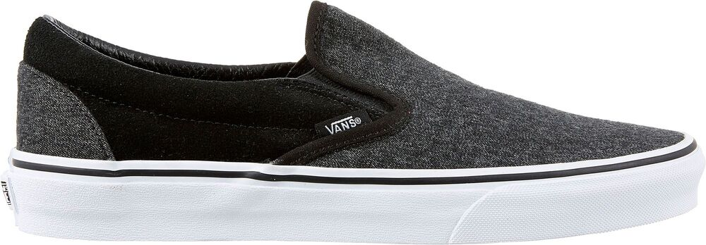 2051162474 Details about Vans Classic Slip On Black Grey Mens Suede   Suiting Shoes  All NEW RARE