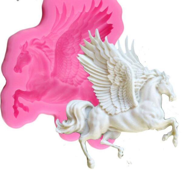 Pegasus Mold for Cake Fondant Silicone Fairy Animal Chocolate Polymer Clay Candy
