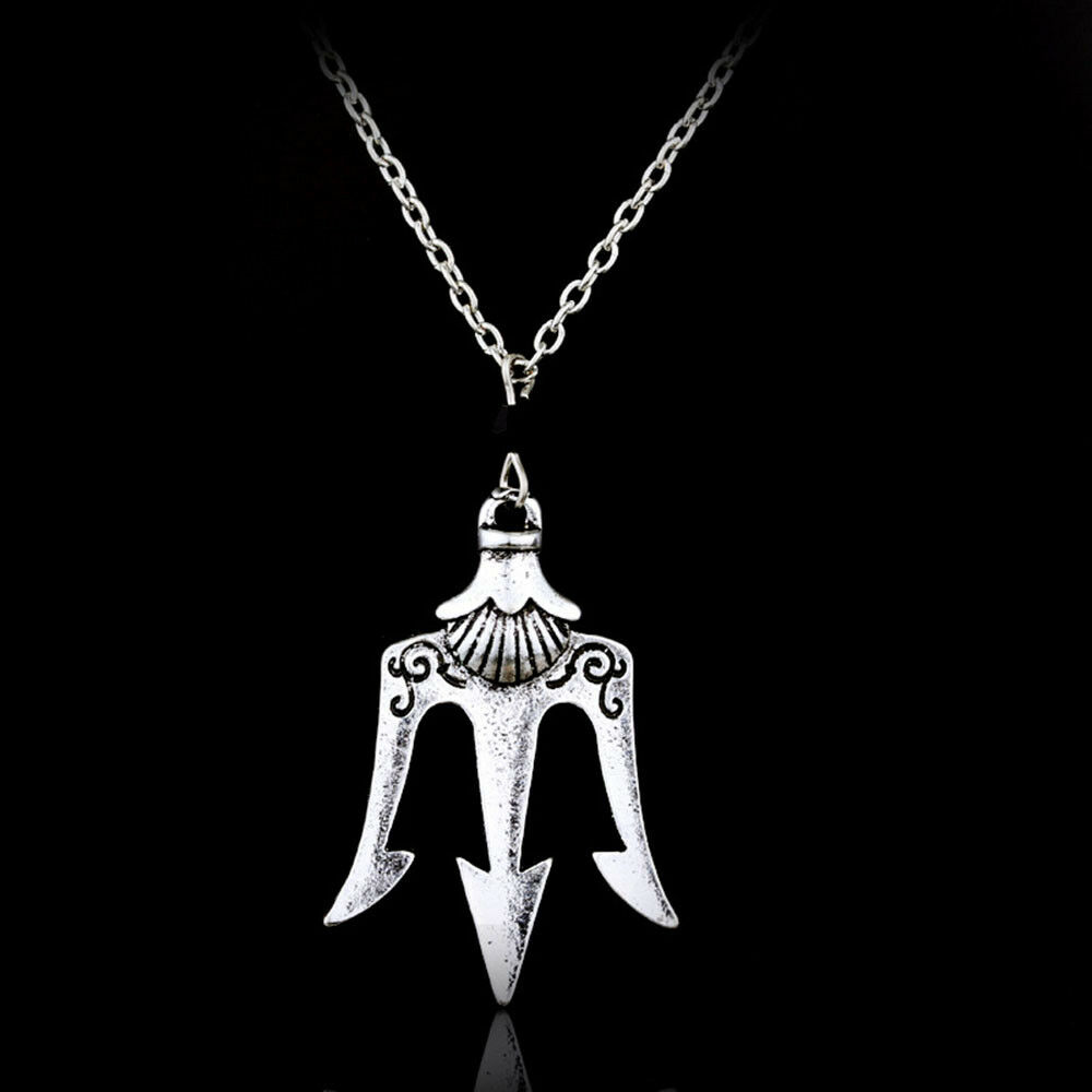 a0b9b46ac1 Details about Percy Jackson Necklace Neptune Poseidon Trident Pendant  Cosplay Jewelry for Gift