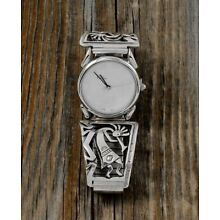 Navajo Men's Sterling Silver Kokopelli Watch