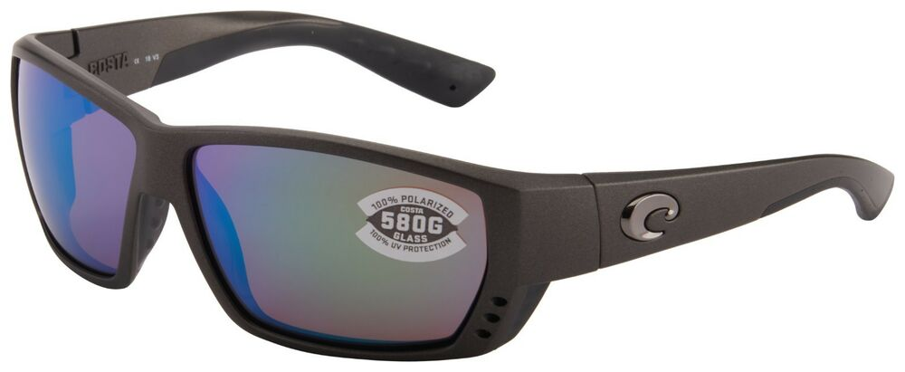 71a7986840262 Details about Costa Del Mar Tuna Alley Sunglasses TA-188-OGMGLP Steel 580G  Green Polarized