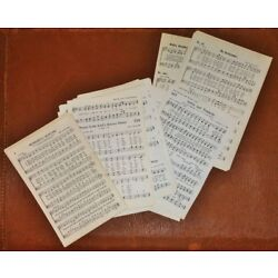 Kyпить Vintage Mixed Sizes SMALL Sheet Music Old Hymnal Sheets LOT 75 Pages for Crafts на еВаy.соm