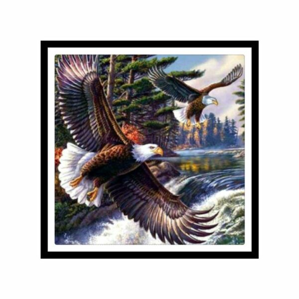 Full Drill DIY 5D Eagle Diamond Painting Embroidery Cross Stitch Kit Home Decor