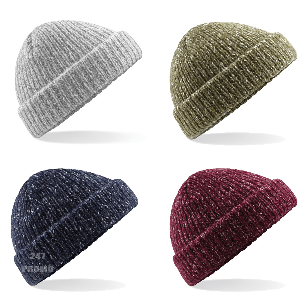 a12c09d1b2344 Details about BEECHFIELD TRAWLER BEANIE FISHERMAN STYLE CHUNKY DOUBLE LAYER  WARM HIPSTER HAT