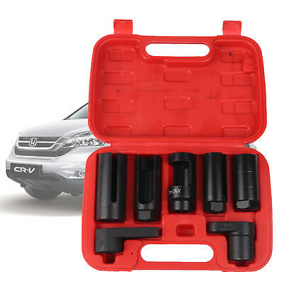 7PC OXYGEN LAMBDA SENSOR SOCKET REMOVAL SET TOOL KIT ENGINE 22MM/27MM/29MM 15-20