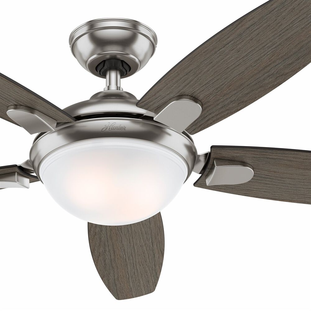 Modern Ceiling Fans With Lights: Hunter Fan 54 Inch Modern Ceiling Fan With An LED Light