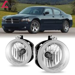 Kyпить For Dodge Charger 06-09 Clear Lens Pair Bumper Fog Light Lamp OE Replacement DOT на еВаy.соm