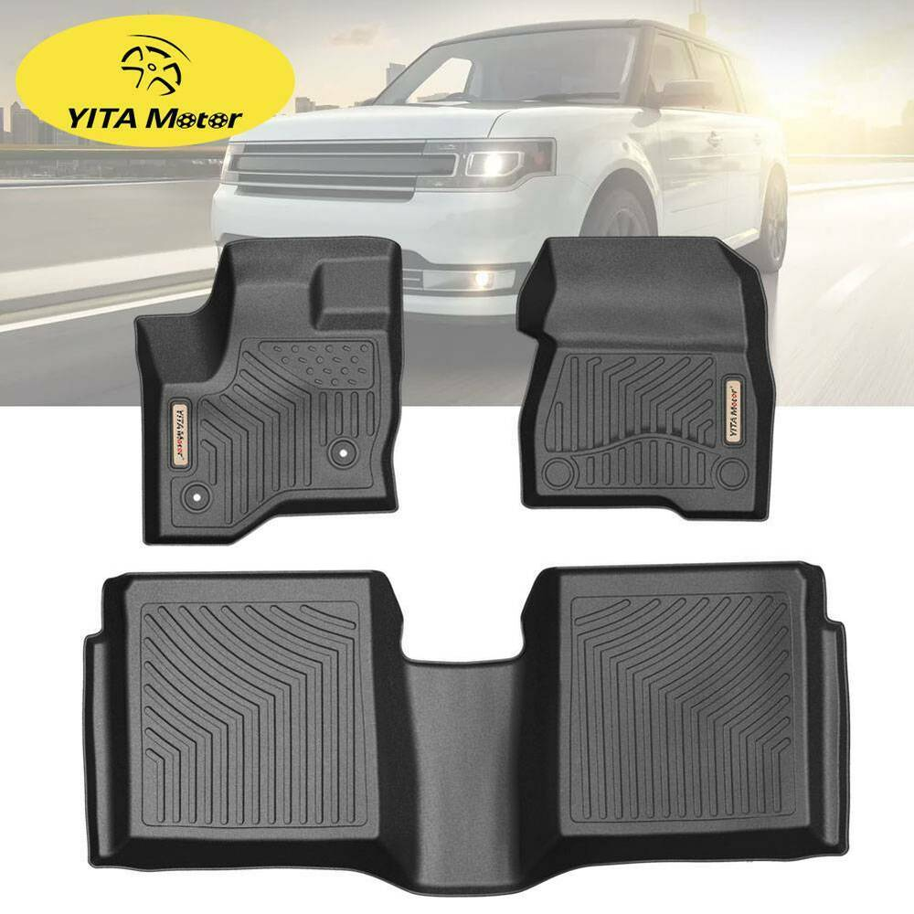 Front Rear Floor Mats Floor Liner For 2011-2019 Ford Flex