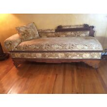 Rare Antique Fainting Couch/Sofa makes into bed