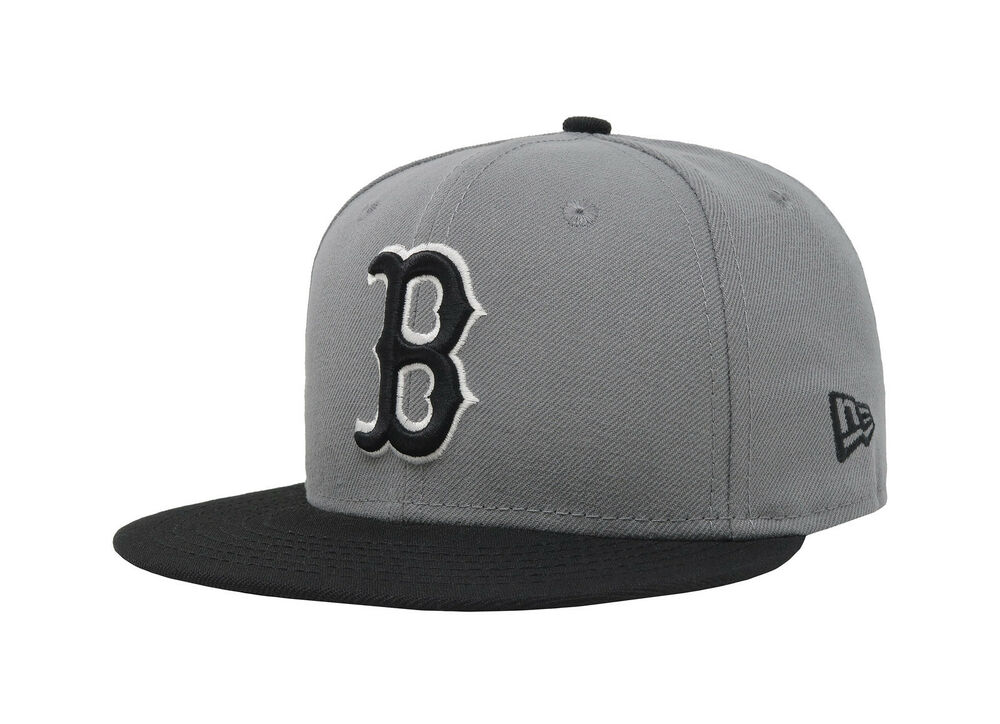 dc2e7c4f3fb Details about New Era 59Fifty Cap MLB Boston Red Sox Boys Kids Youth Size  Gray Black 5950 Hat
