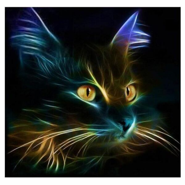Cat 5D DIY Full Drill Diamond Painting Embroidery Cross Stitch Kit Home ecor