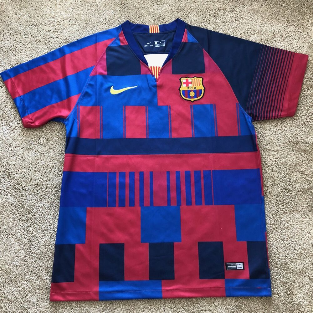 0a5c629ca32 Details about FC Barcelona 20th Anniversary- Mashup Jersey- S A L E !