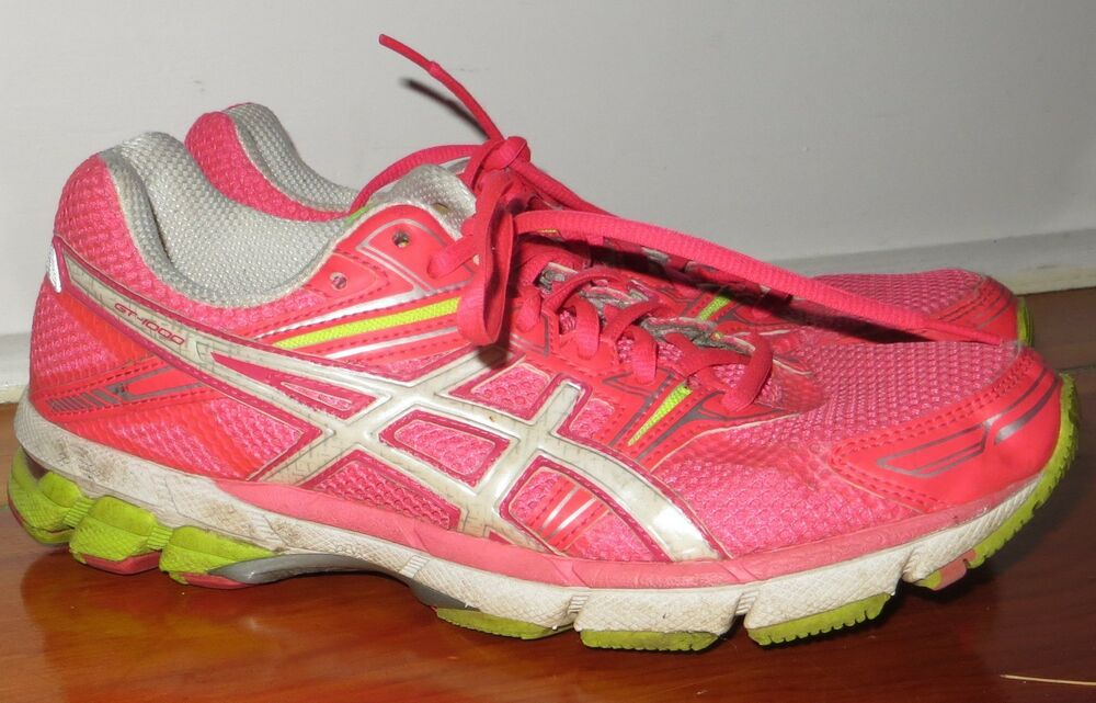 1e8052b156b1 ASICS GT 1000 NEON Pink athletic   running shoes T2L6N size 9.5
