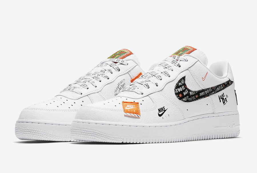 half off 0897b 814bb Nike Air Force 1 07 PRM JDI Just Do It White Black AR7719 100 Mens and GS  Size  eBay