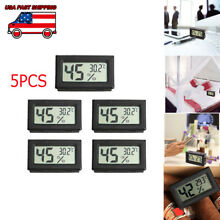 USA 5Pcs Digital LCD Temperature Humidity Meter indoor Thermometer Hygrometer