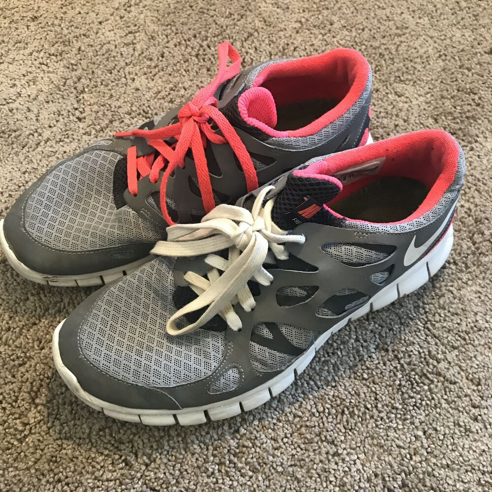 7c0547f47f4 Details about Nike Free Run+ 2 Women s Running Shoes Size 8 Stealth Solar  Red Black 443816-016