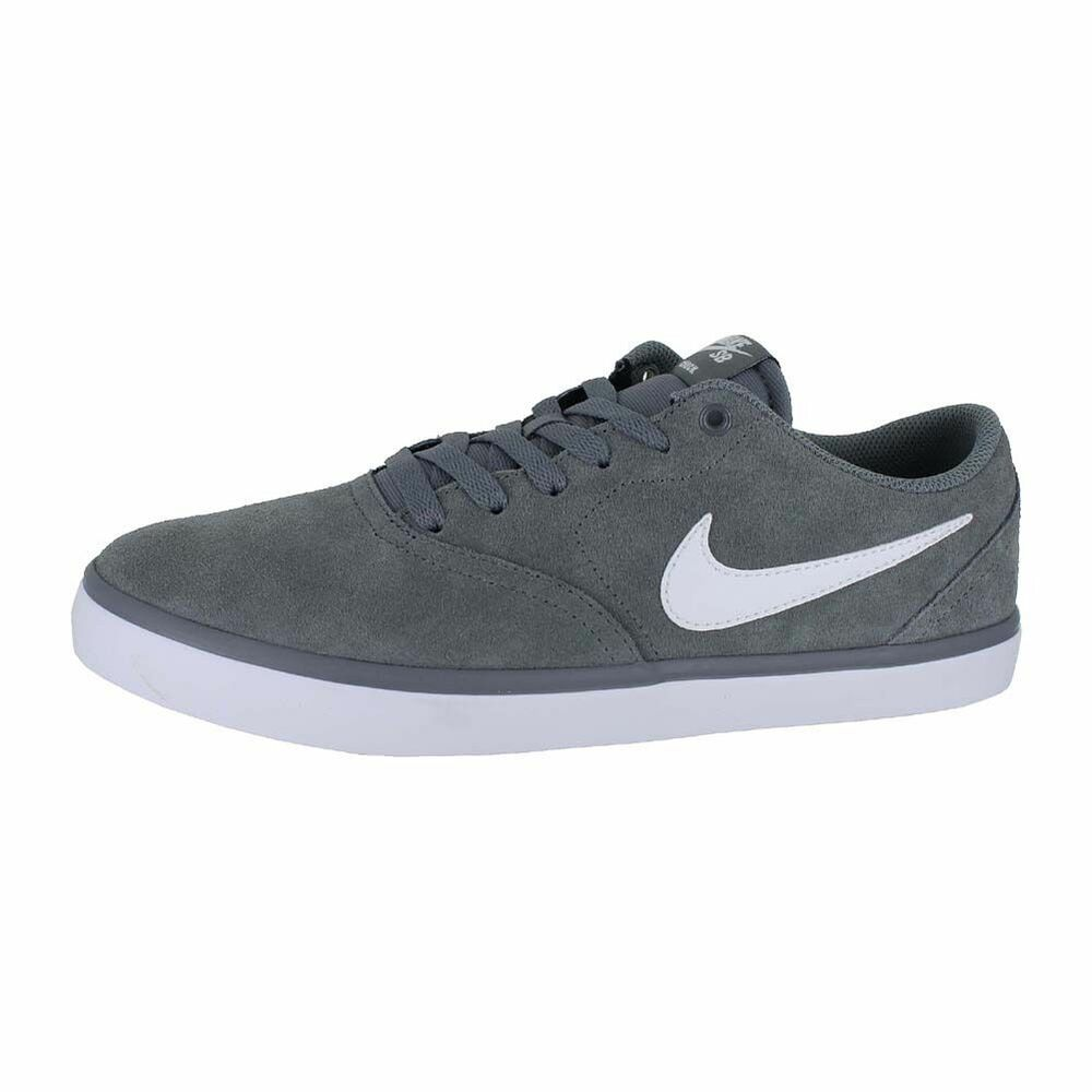 competitive price 6a704 a96ac Details about NIKE SB CHECK SOLAR SKATEBOARD SUEDE LOW MEN SHOES GREY  43895-005 SIZE 9.5 NEW