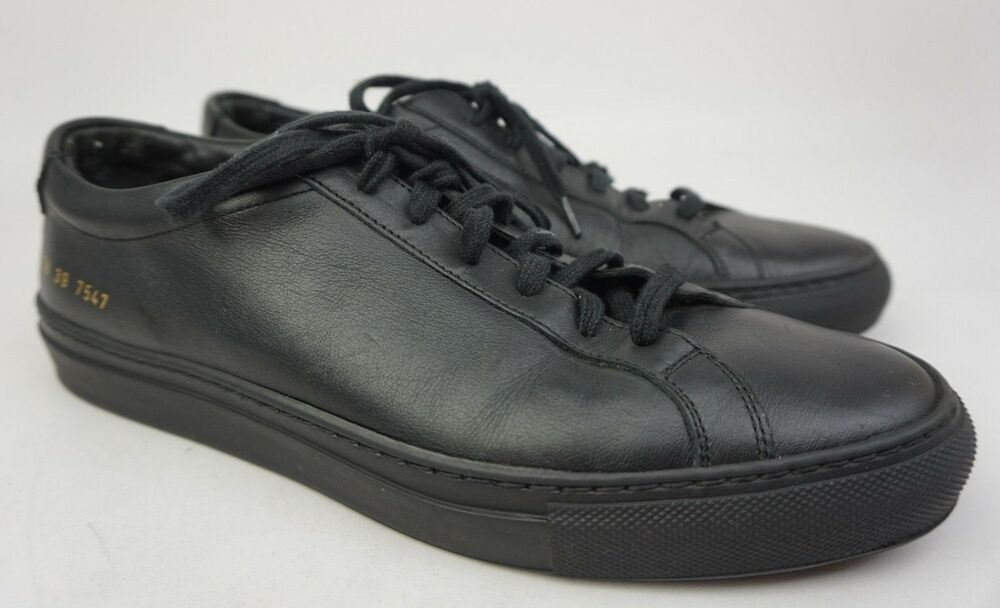 31aa70f91303 Common Projects Mens Original Achilles Low Black Sneakers Shoe Size 39 EU   6 US