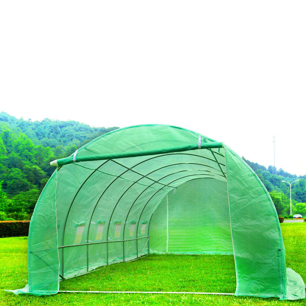 6m X 3m Fully Galvanised Steel Polytunnel Frame Greenhouse
