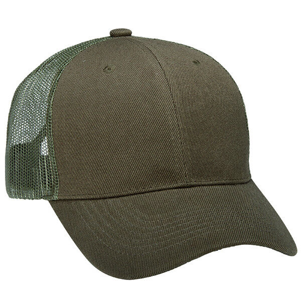 Details about 1 Dozen (12) Army Olive Green Blank Classic Trucker Hats  Acrylic Twill   Mesh 2aae5720a08