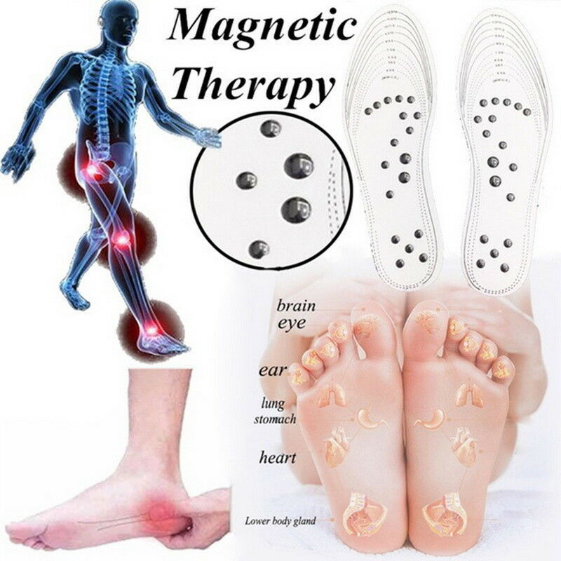 Details about Newest Unisex Silicone Insole Magnetic Therapy Anti Fatigue  Massage Insoles