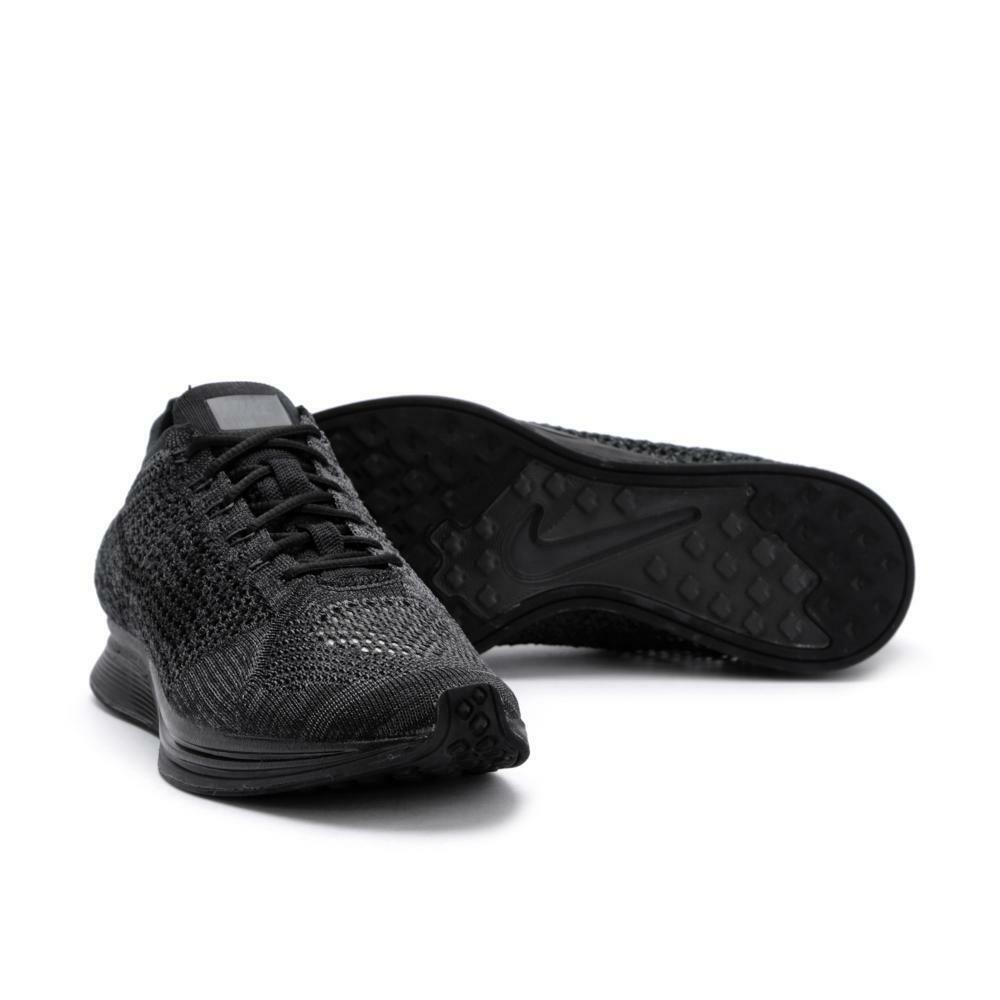 59655ff8aa41ab Details about NEW Men s Nike Flyknit Racer Black   Black   Anthracite  526628-009 Size 7.5