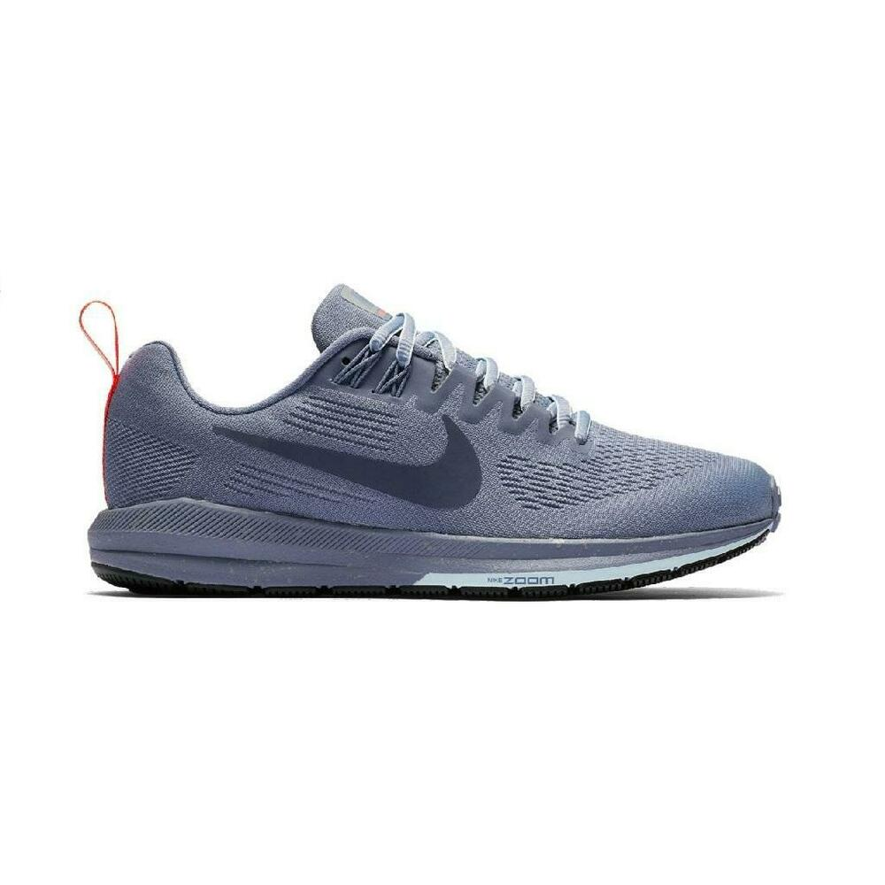 f0ff800e466 Details about Womens NIKE AIR ZOOM STRUCTURE 21 SHIELD Blue Running  Trainers 907323 400
