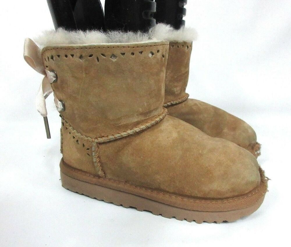 8f8d93b6b70 UGG Australia Dixi Flora Perforated Girls Toddler Classic Chestnut ...