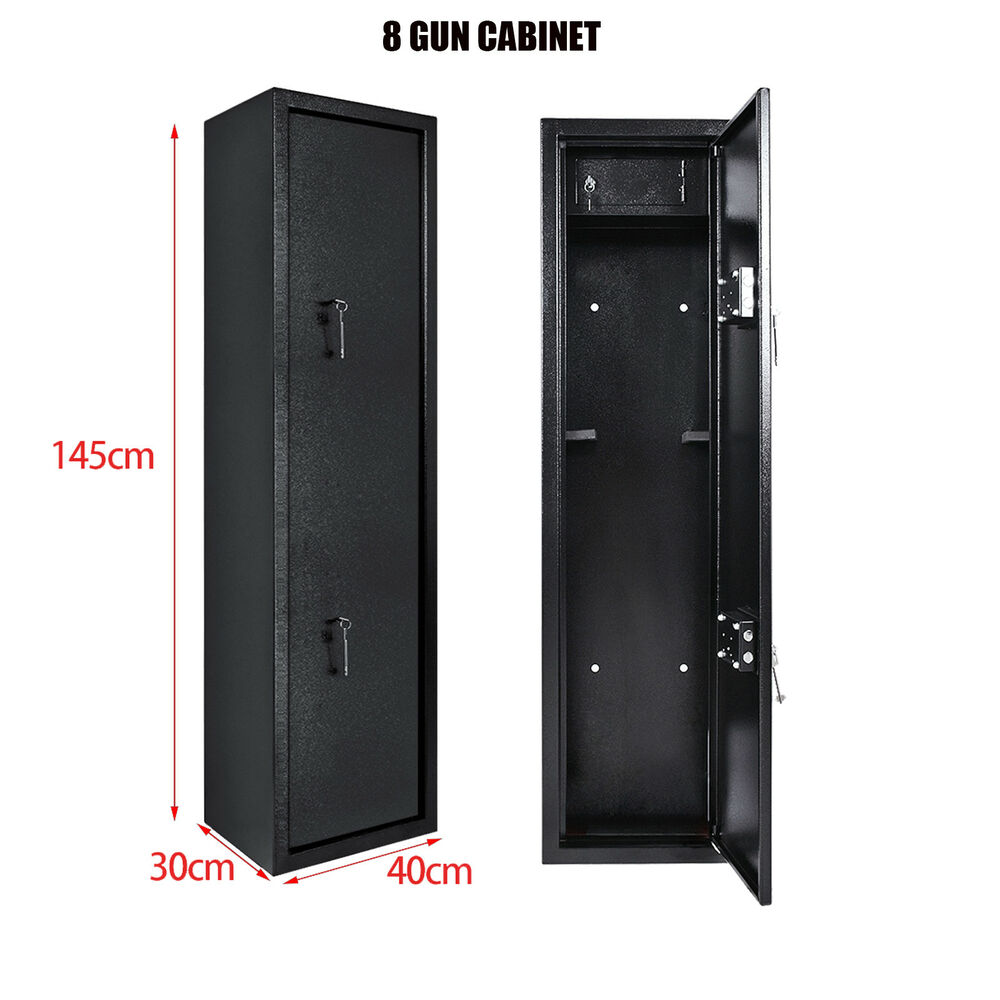 Xtra Large 8 Gun Cabinet With Built In Ammunition Safe Shotgun Vault Locking Uk Ebay