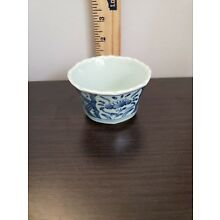 Beautiful Chinese Blue and White Porcelain Tea/Sake Cup