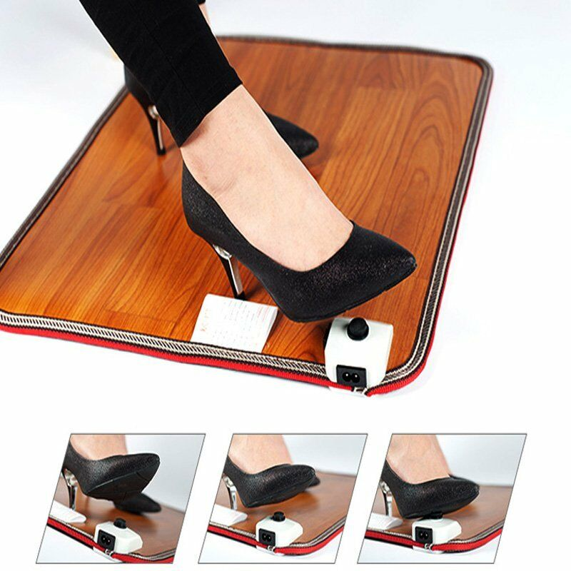 Electric Foot Warmer Carpet Pad Heated Thermostat Floor