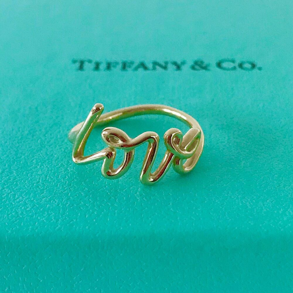 Details about tiffany s graffiti love ring size 6 w pouch