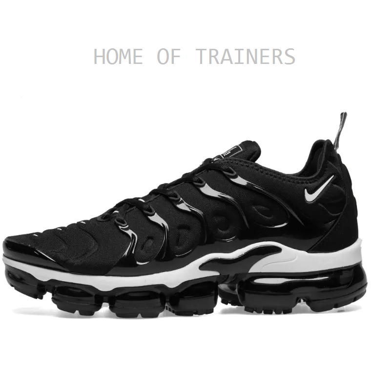 67ecc25134d Details about Nike Air Vapormax Plus Black And White Girls Women s Trainers  All Sizes