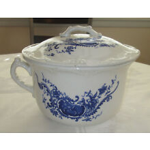 Antique BLUE and WHITE Ironstone Chamber Pot