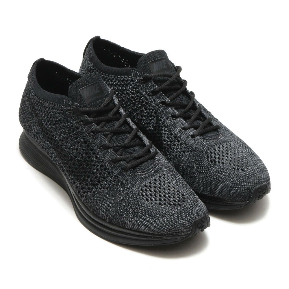 the best attitude 51274 aa7ab Details about Nike Flyknit Racer Unisex Running Shoes Sneakers Black  Anthracite Mens US Size 7