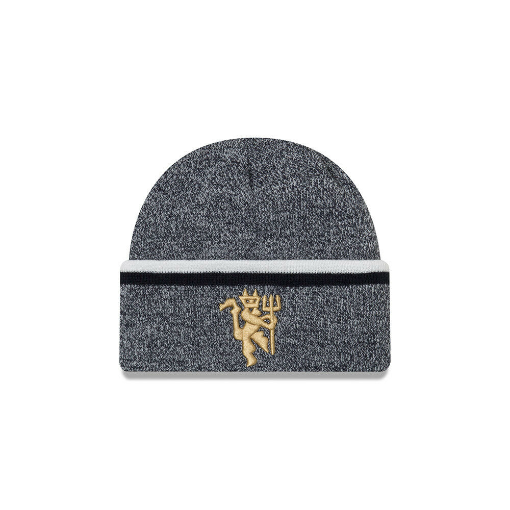 74c9aee1cd1 Details about MANCHESTER UNITED NEW ERA CUFF KNITTED BEANIE TOQUE  OFFICIALLY LICENSED