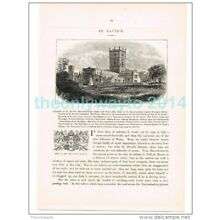 ST DAVIDS FROM THE SOUTH WEST, WALES, BOOK ILLUSTRATION/PRINT, 1882