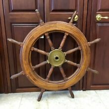 "Nautical Marine Authentic 19th Century 42"" 8 Spoke Ship's Helm / Wheel"