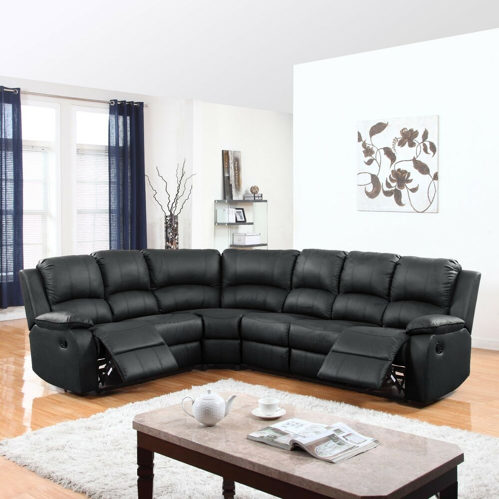 Traditional Living Room Leather Furniture: Traditional Living Room Sofa Sectional With Reclining