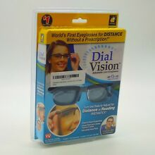 Dial Vision Adjustable Lens Eyeglasses Reading Distance Glasses - AS SEEN ON TV