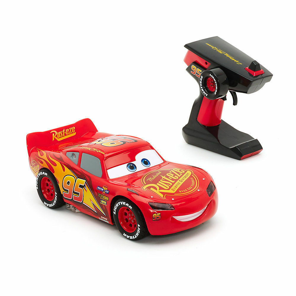 Details about disney cars 3 lightning mcqueen rc car real racing action lights sounds toy