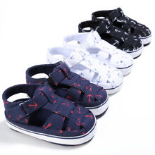 ecdcc8974d1778 US Baby Kids Girl Boy Soft Sole Crib Sandals Toddler Newborn Sneakers Shoes