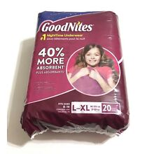 GoodNites Disposable Underwear for Girls, Size L / XL - 20 pack